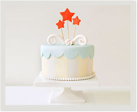 pre-designed fondant cake: celebration
