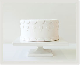 pre-designed fondant cake: merely dots