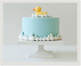 pre-designed fondant cake: rubber ducky