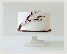 pre-designed fondant cake: sakura